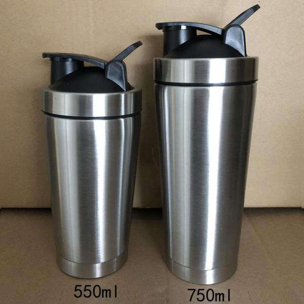 500ml 720ml Stainless steel double wall vacuum insulated shaker bottle - 副本