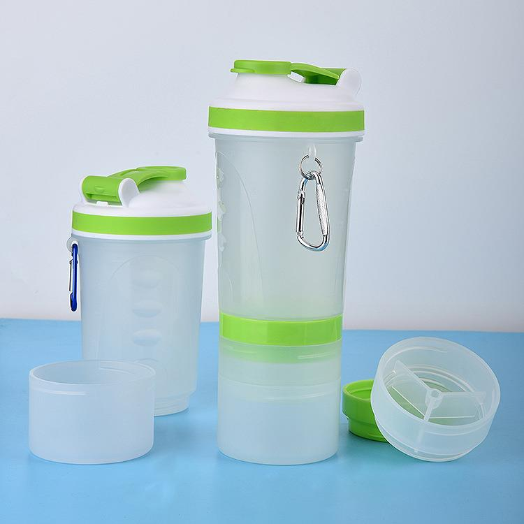dual shaker bottle Wholesale drink plastic water sport bottle