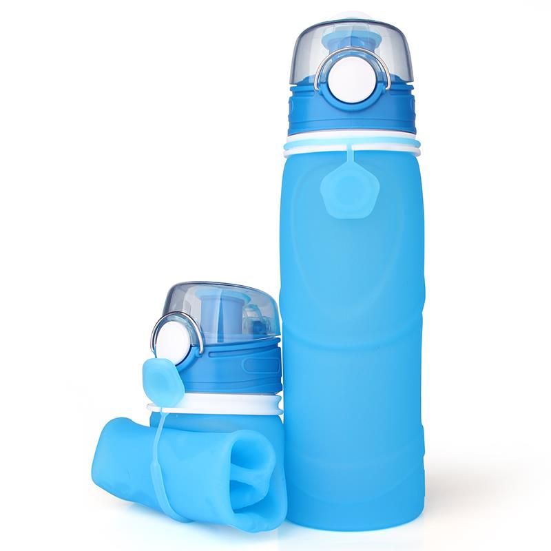 750ML Custom Collapsible Silicone Outdoor Sport Water Bottle