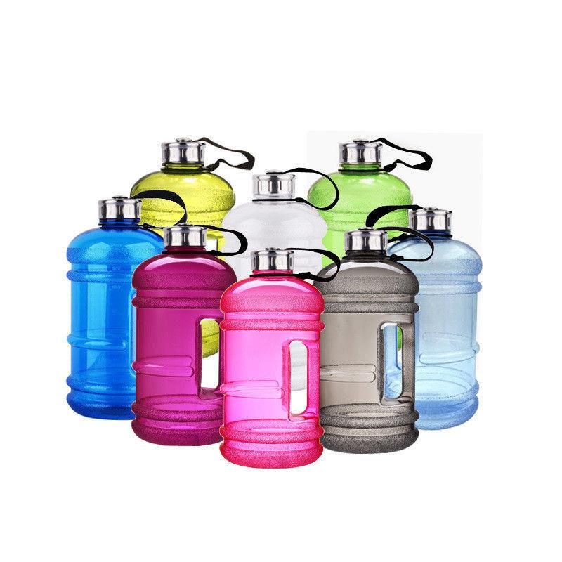 plastic water bottle 2.2L with stainless steel cap