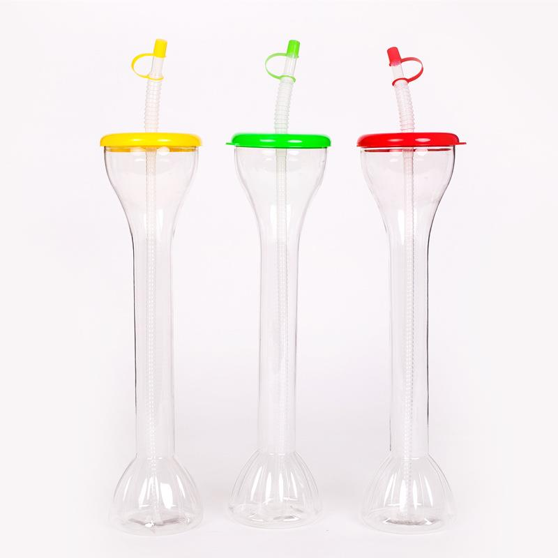 500ml colorful plastic beer yard glass