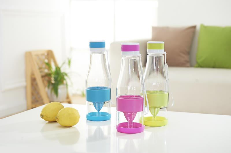 Plastic Fruit Infuser Juice Water Bottle