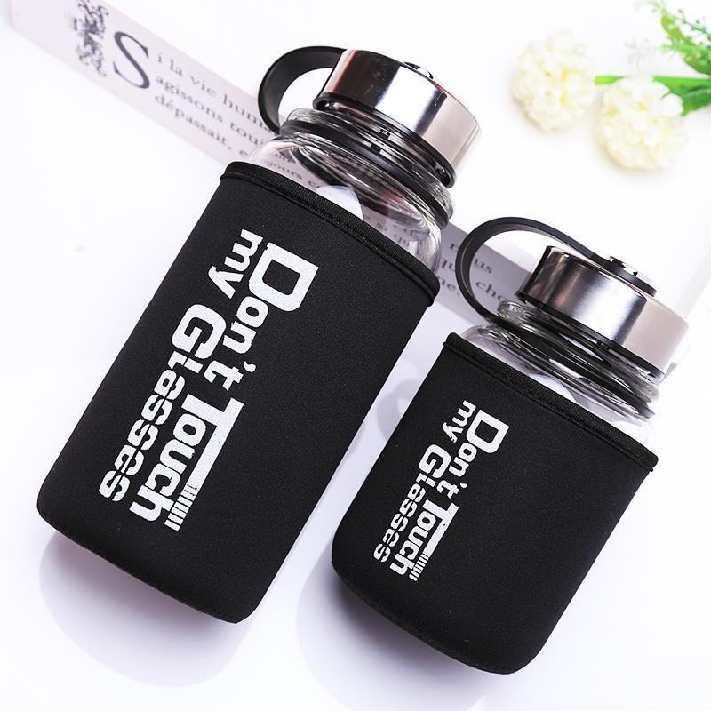 Large Capacity Glass Drinking Bottle