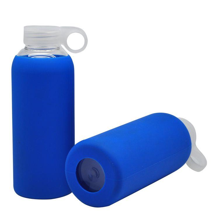 Custom Silicone Glass Water Bottle With Sleeve