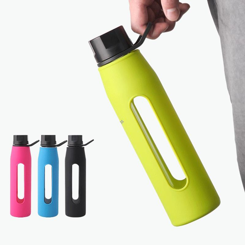 20 OZ Glass Water Bottle With Silicone Sleeve