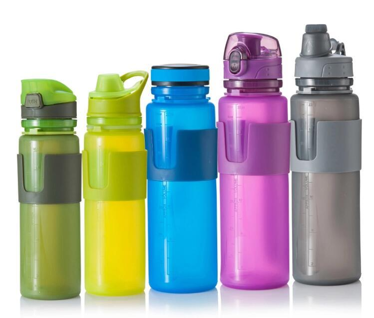 Everich collapsible silicone squeeze sports bottle silicone travel bottle