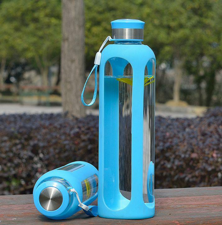 750ml borosilicate glass water bottle