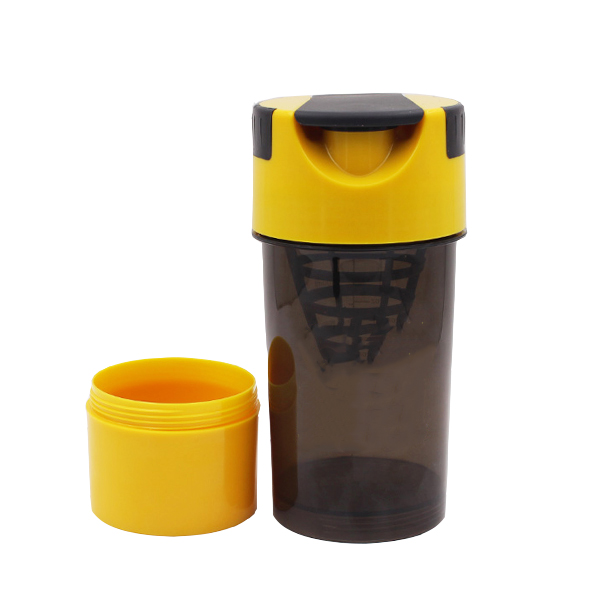 600ml bpa free custom logo plastic gym fitness cyclone shaker cup sports protein bottle