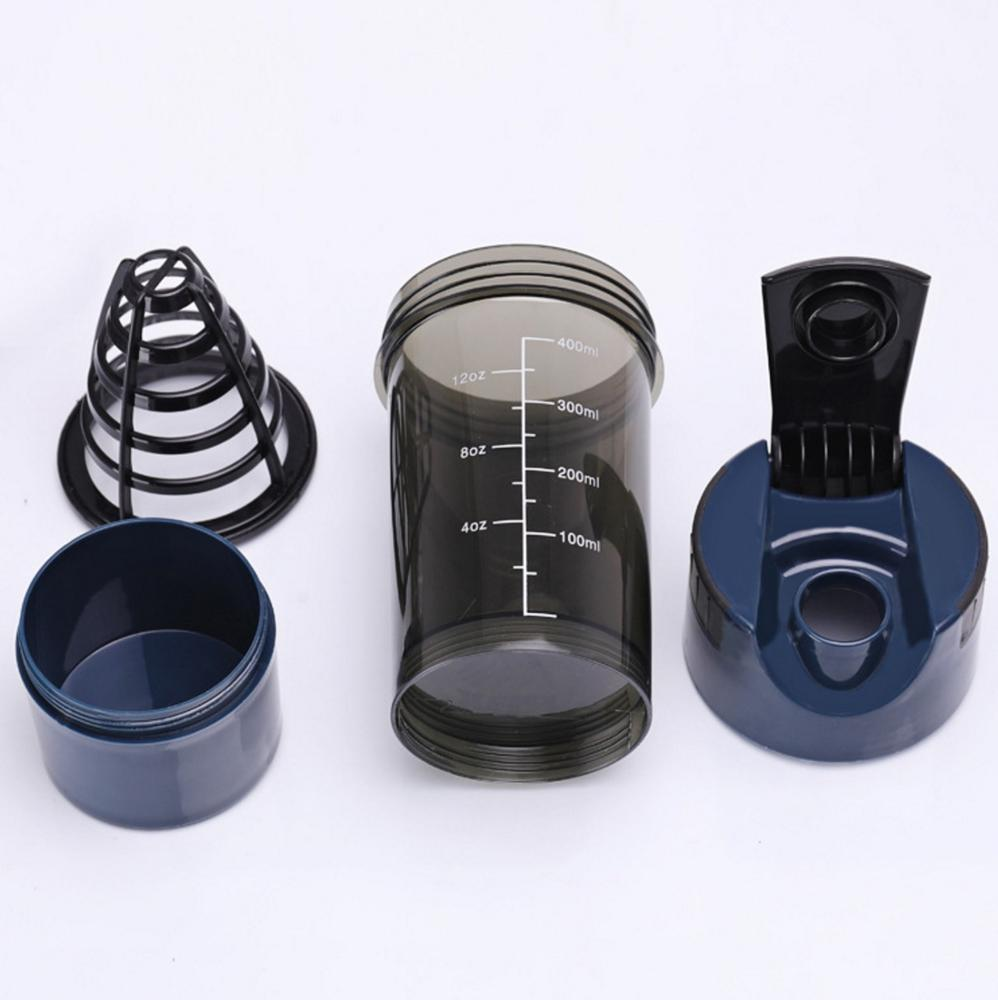 Black Cyclone Cups Mixer Bottle Protein Powder Shaker