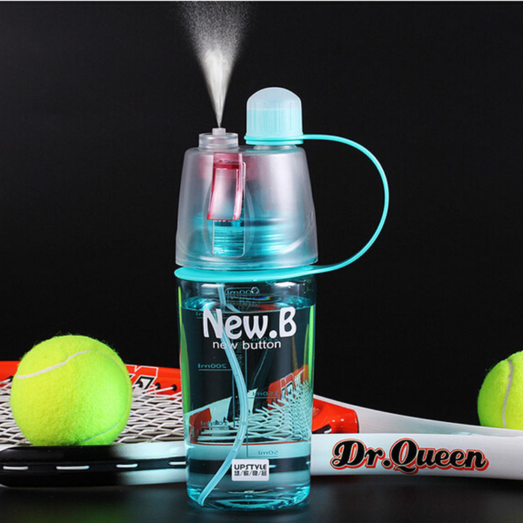 Water Bottle With Straw 600ML