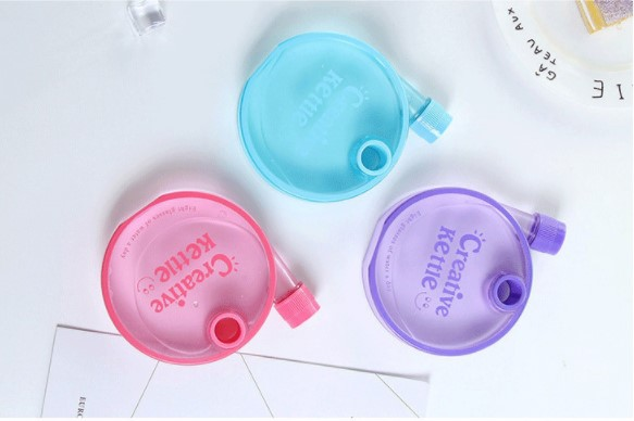 Wholesale Flat Plastic Water Bottle