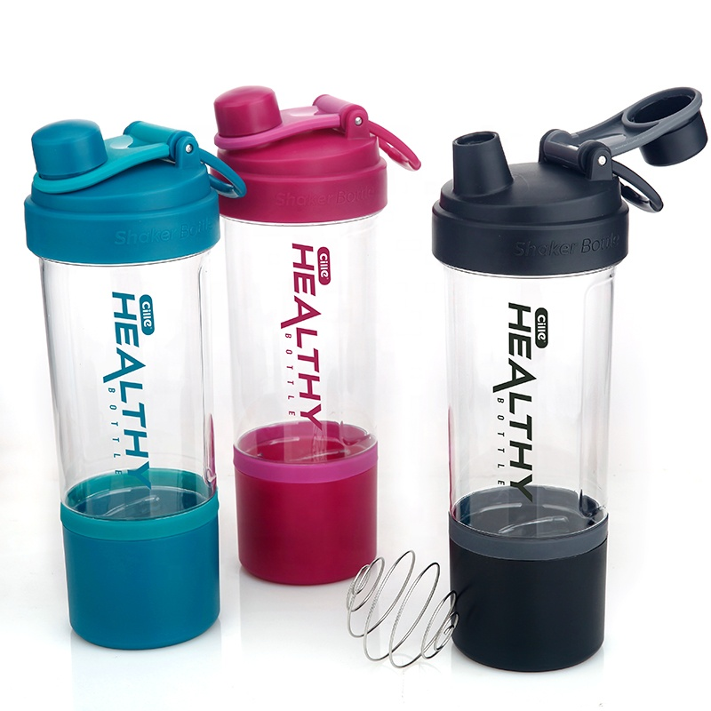 Cille Custom 850ml Drinking Water Bottle Drinkware Type Plastic Sports Protein Shaker Water Bottle BPA Free Shaker Bottle