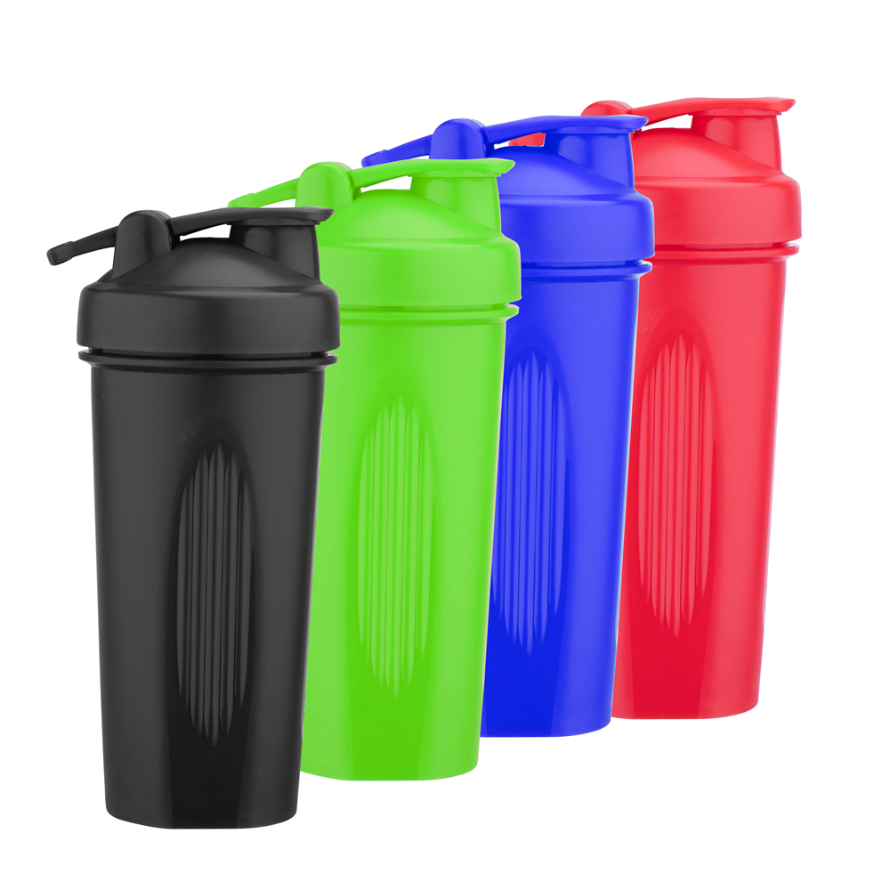 Wholesale 20 Ounce Custom Logo Color BPA Free Plastic Fitness Gym Shakers Protein Shaker