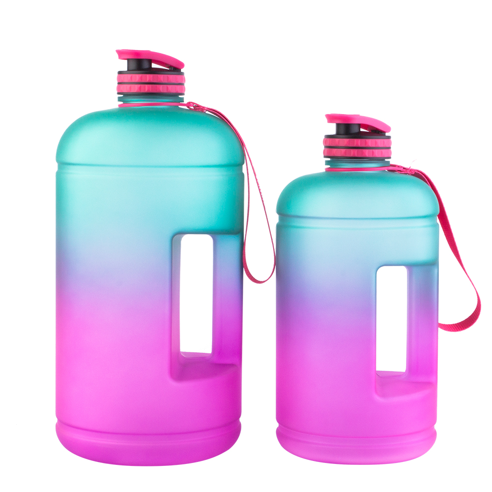 2020 bpa free plastic new motivational time marker Amazon hot sale 1 gallon tritan gym water bottle