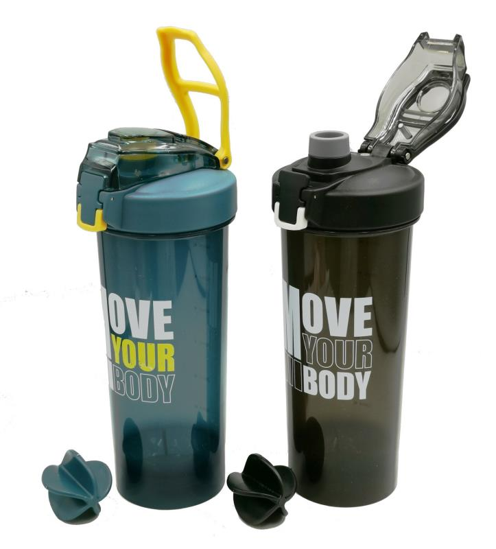 New 800ml plastic sport water bottle BPA free shaker Protein powder bottle